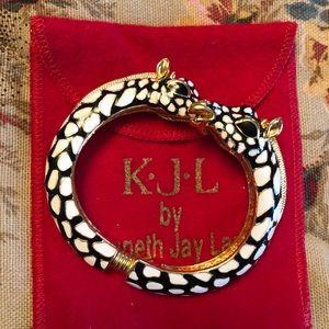 Kenneth Jay Lane Double Head Giraffe Bracelet